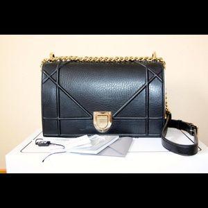 Diorama Black Cowhide Leather Cross Body Bag
